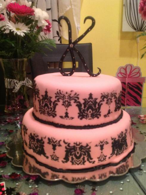Damask Birthday Cake